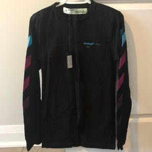 New Off-White Black Marker Long Sleeve T-shirt